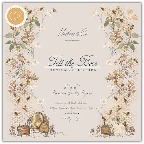 "Tell the Bees 6""x6"" Premium Paper Pad"