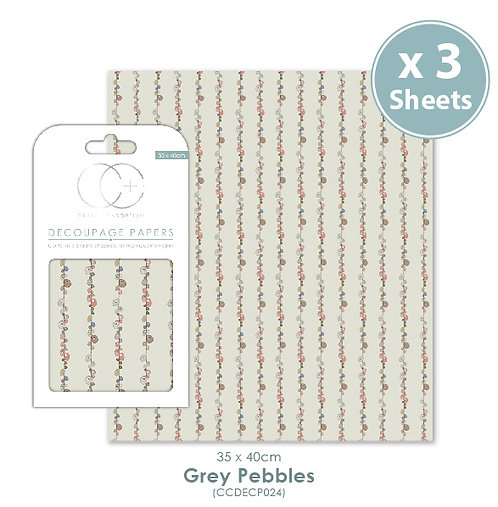 Grey Pebbles - Decoupage Paper Set
