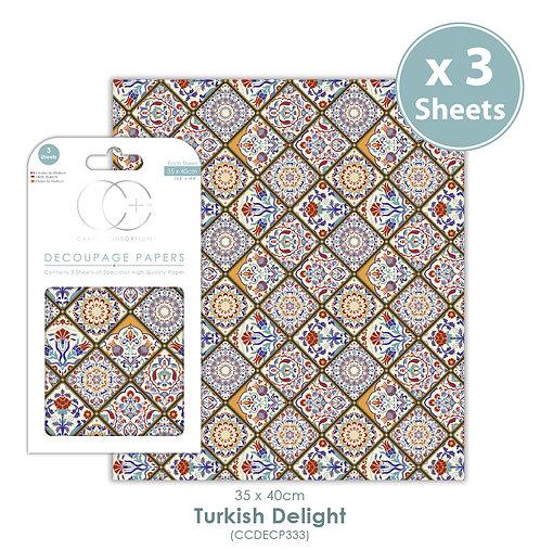 Turkish Delight - Decoupage Paper Set