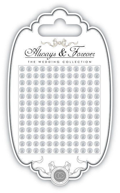 Always & Forever - Adhesive Rhinestone Gems - 4mm
