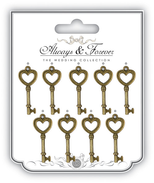 Always & Forever - Vintage Metal Key Charms