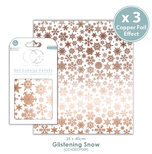 Glistening Snow - Decoupage Papers