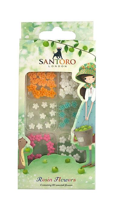 Santoro - Kori Kumi Mini Resin Flowers Set