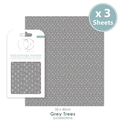 Grey Trees - Decoupage Papers Set