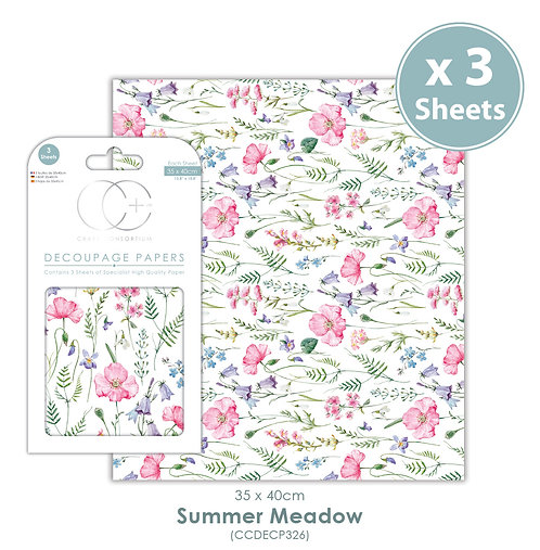 Summer Meadow - Decoupage Paper Set