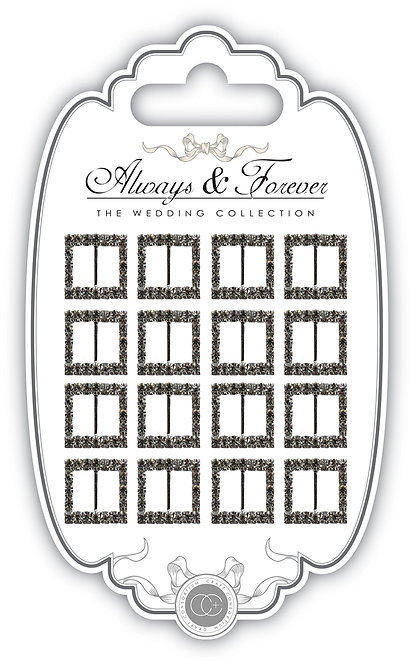 Always & Forever - Square Diamante Buckles