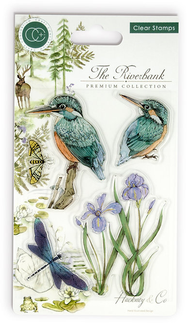 The Riverbank - Kingfishers - Clear Stamp Set
