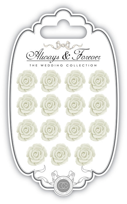 Always & Forever - Resin Flowers - White