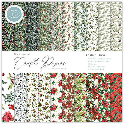 The Essential Craft Papers - 6x6 - Festive Flora