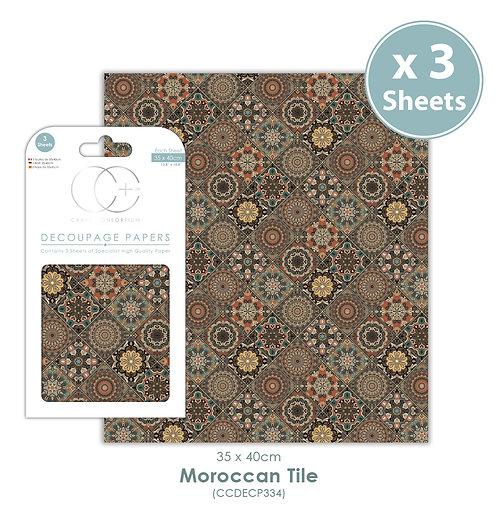Moroccan Tile - Decoupage Paper Set