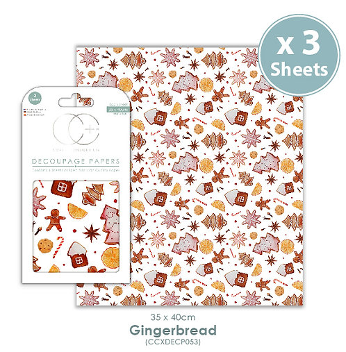 Gingerbread - Decoupage Papers