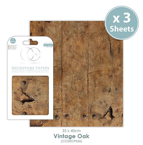 Vintage Oak - Decoupage Paper Set