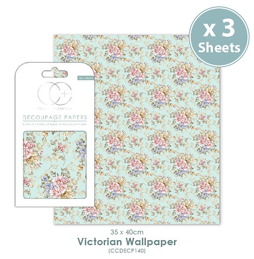 Victorian Wallpaper - Decoupage Papers Set