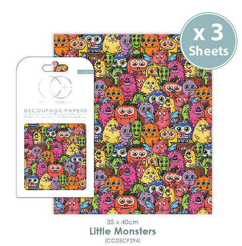 Little Monsters - Decoupage Papers Set