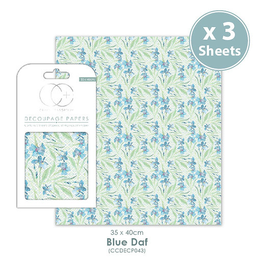 Blue Daf - Decoupage Papers Set