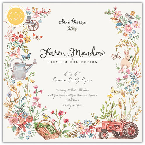"Farm Meadow 6""x6"" Premium Paper Pad"