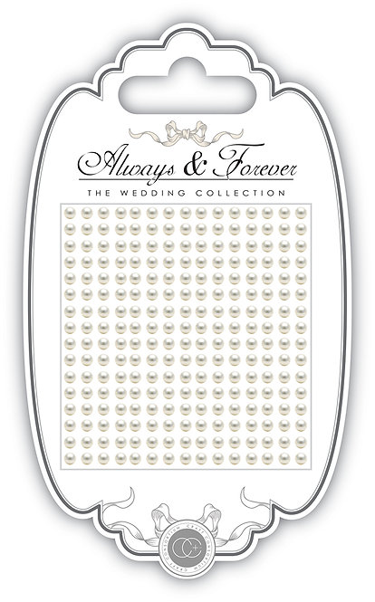 Always & Forever - Adhesive Pearls - 3mm