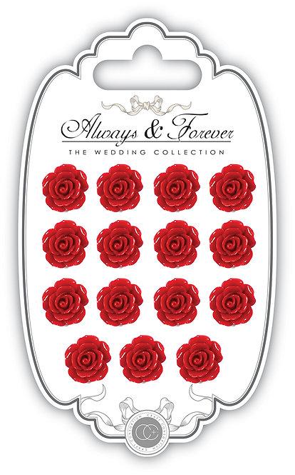 Always & Forever - Resin Flowers - Rose Red