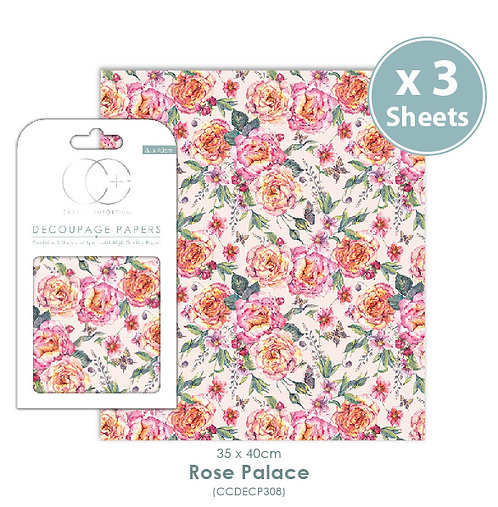Rose Palace - Decoupage Papers Set