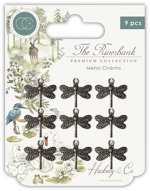 The Riverbank - Dragonfly Metal Charms