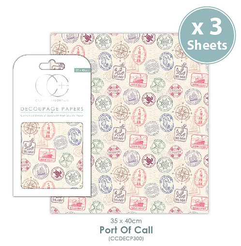 Port of Call - Decoupage Papers Set