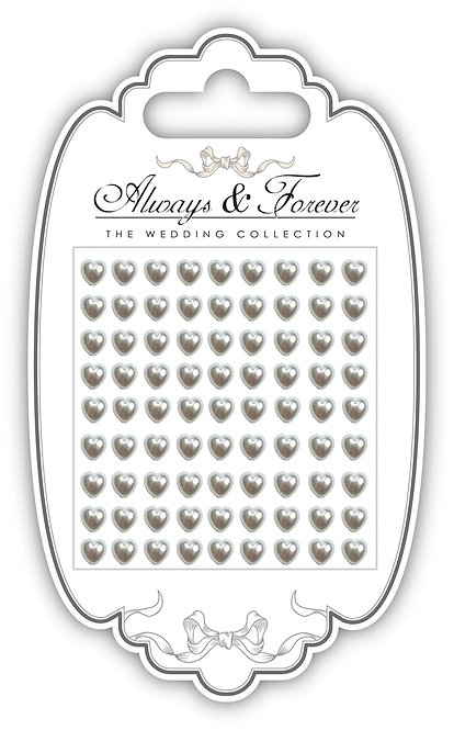 Always & Forever - Adhesive Pearl Hearts