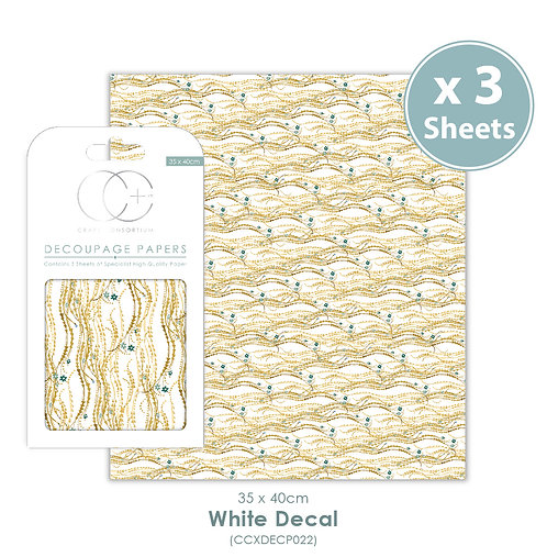 White Decal - Decoupage Papers Set