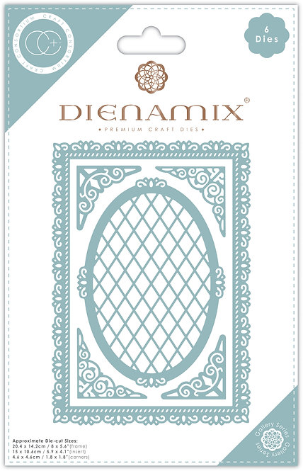 Dienamix - A5 Ornate Frame - Cutting Die