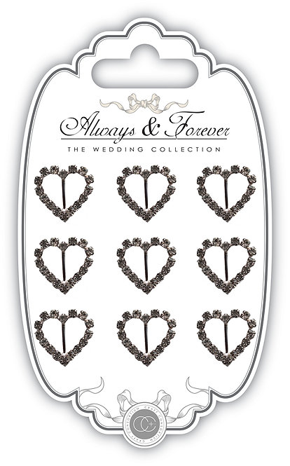 Always & Forever - Diamante Heart Buckles