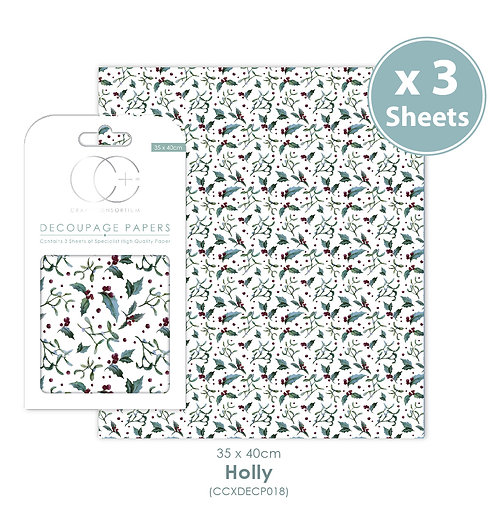 Holly - Decoupage Papers Set