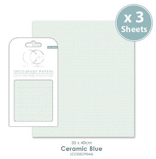 Ceramic Blue - Decoupage Paper Set