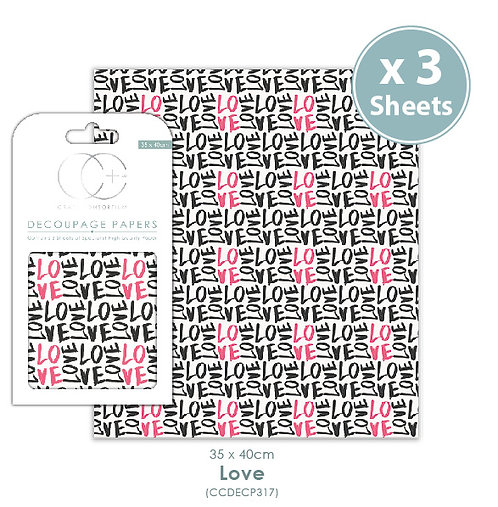 Love - Decoupage Papers Set