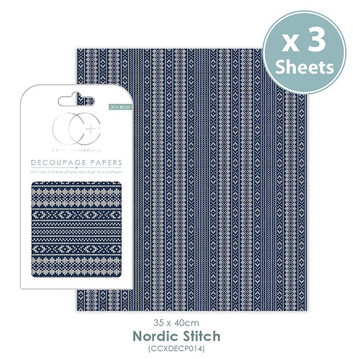 Nordic Stitch - Decoupage Papers Set