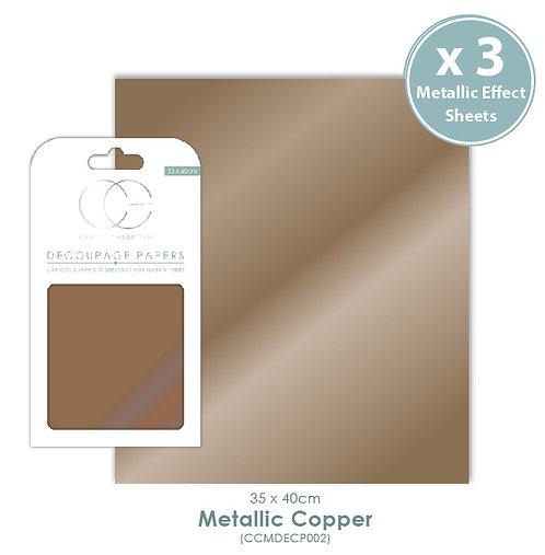Metallic Copper - Decoupage Papers Set