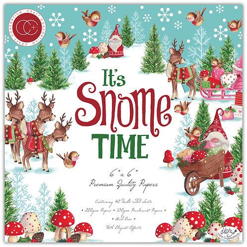 """It's Snome Time 6""""x6"""" Premium Paper Pad"""