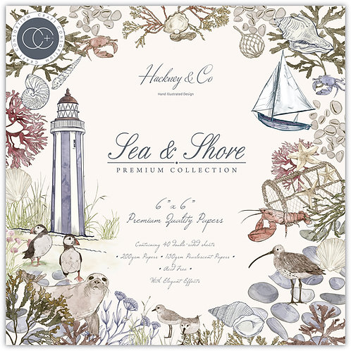 """Sea & Shore  - 6""""x6"""" Premium Paper Pad"""