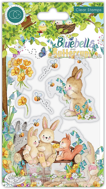 Bluebells and Buttercups - Bench - Stamp Set