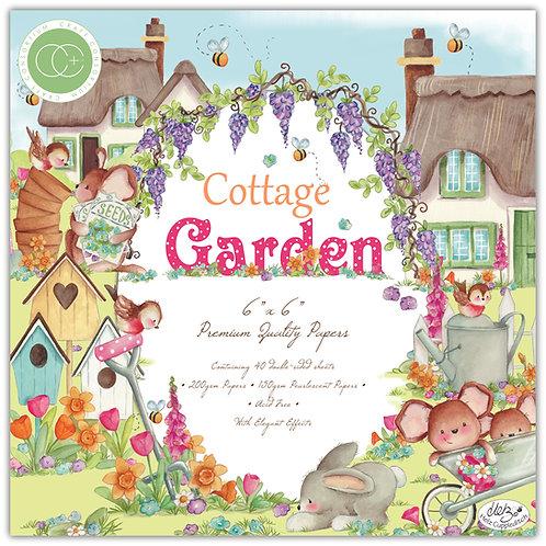 "Cottage Garden 6""x6"" Premium Paper Pad"