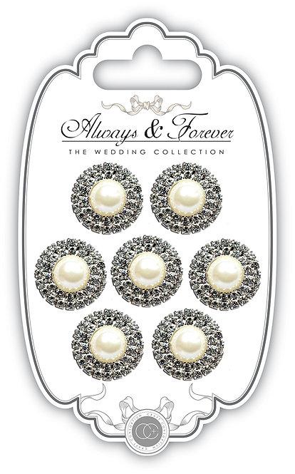 Always & Forever - Pearl & Diamante Circles