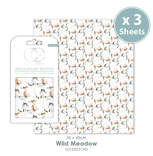 Wild Meadow - Decoupage Papers Set
