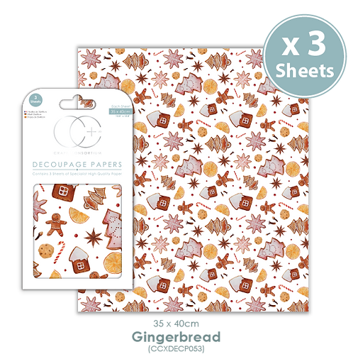 Gingerbread - Decoupage Paper Set