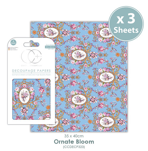 Ornate Bloom - Decoupage Paper Set