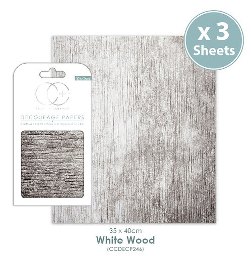 White Wood - Decoupage Papers Set