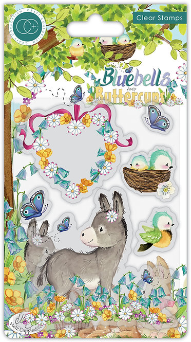 Bluebells and Buttercups - Donkey - Stamp Set