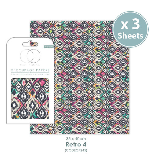 Retro 4 - Decoupage Papers Set