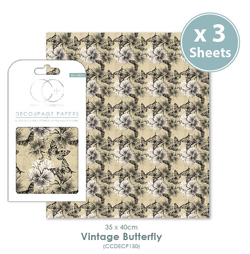 Vintage Butterfly - Decoupage Papers Set