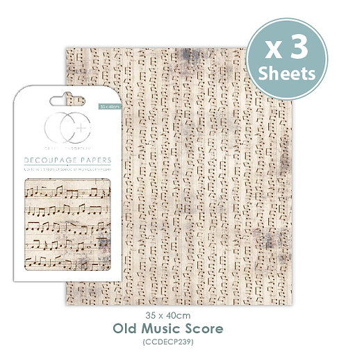 Old Music Score - Decoupage Papers Set
