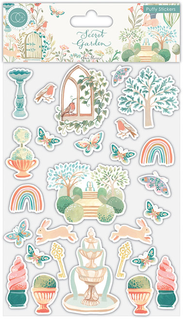 Secret Garden - Puffy Stickers