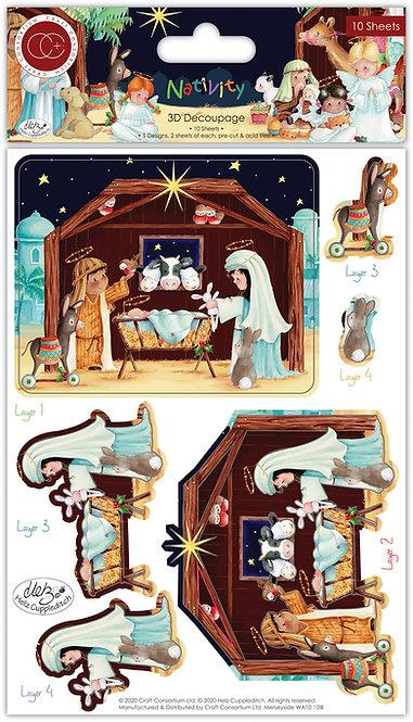 Nativity - 3D Decoupage Set