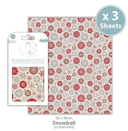 Snowball - Decoupage Paper Set